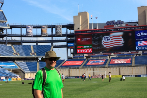 Rich on the field at Gillette Stadium