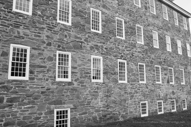 Exterior of Wilkinson Mill at Slater Mill Museum.