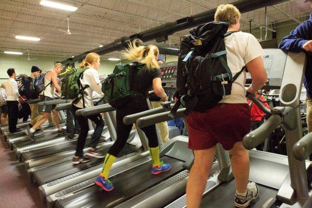Troop challenge backpack climb