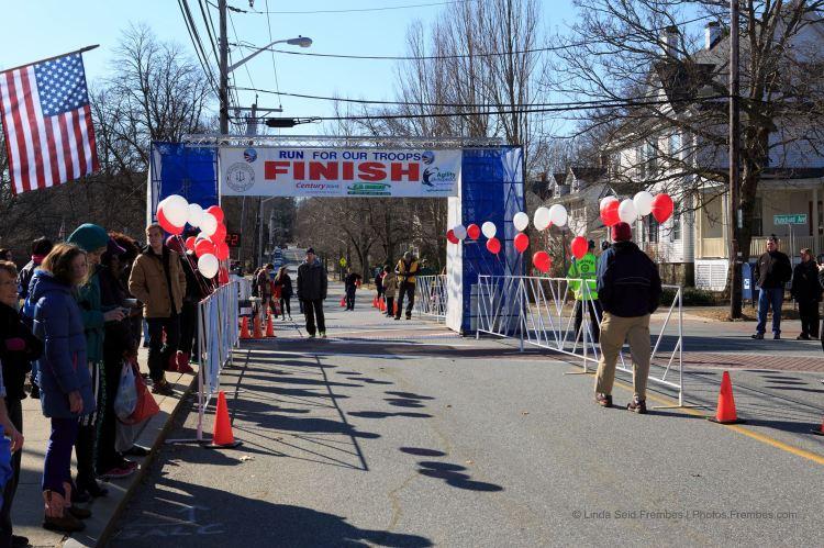 The finish line.