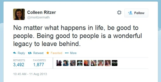 Twitter-msritzermath - No matter what happens in life