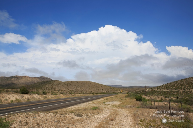 May 25: Waiting for storms outside of Sanderson, Texas, somewhere on Highway 90.