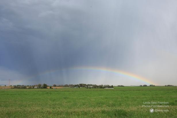 Rainbow in Wyoming