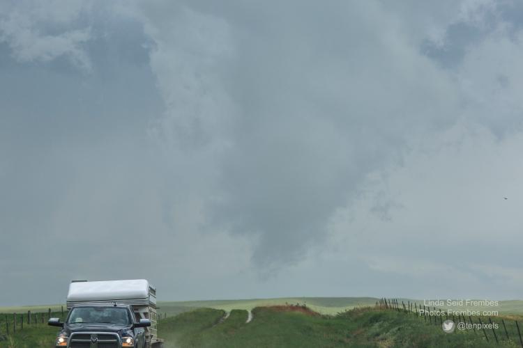 Funnel cloud in Wyoming