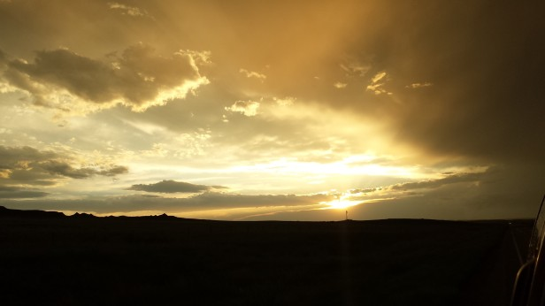 May 28: An amazing sunset in Montana.
