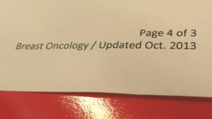 I couldn't help but laugh at this typo. Aren't cancer specialists supposed to live in the details?
