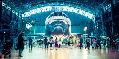 Space Shuttle Discovery at Udvar_Hazy Center in Chantilly, VA.
