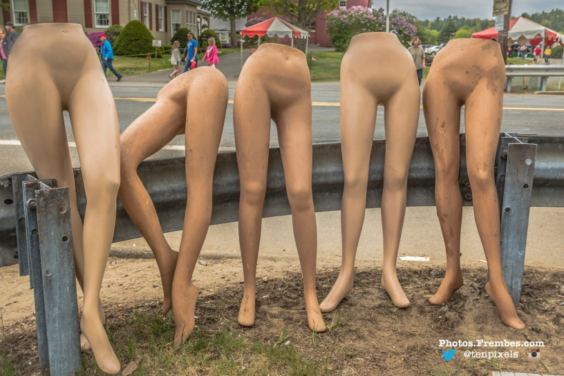 Mannequin legs at Brimfield Antique Show