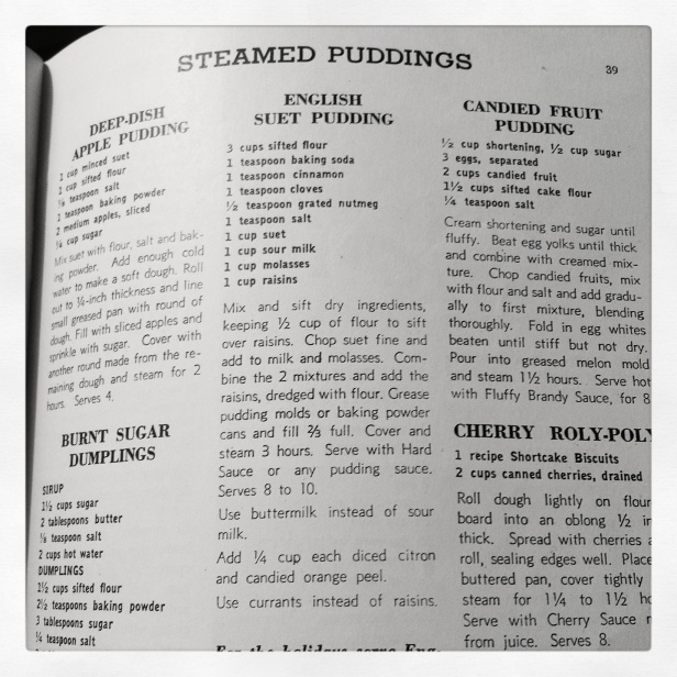 Recipes for Steamed Pudding
