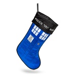 TARDIS stocking from ThinkGeek.com
