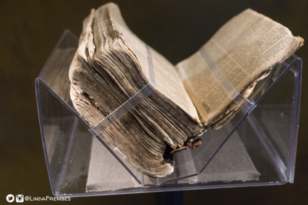Nat Tuner's Bible is on display at the NMAAHC.