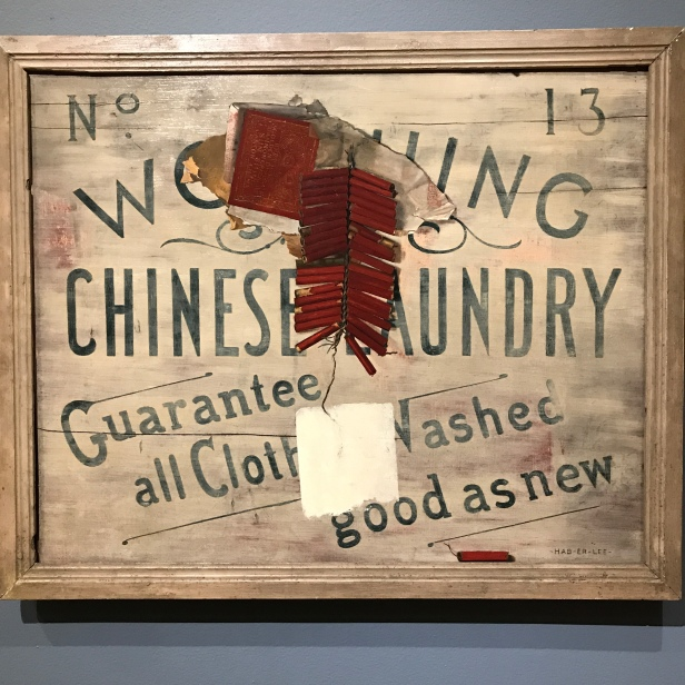 The painting Chinese Firecracker (c. 1890) by John Haberle hanging at the Wadsworth Atheneum